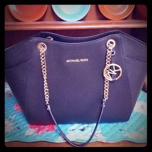 Michael Kors Black Jet Shoulder Bag